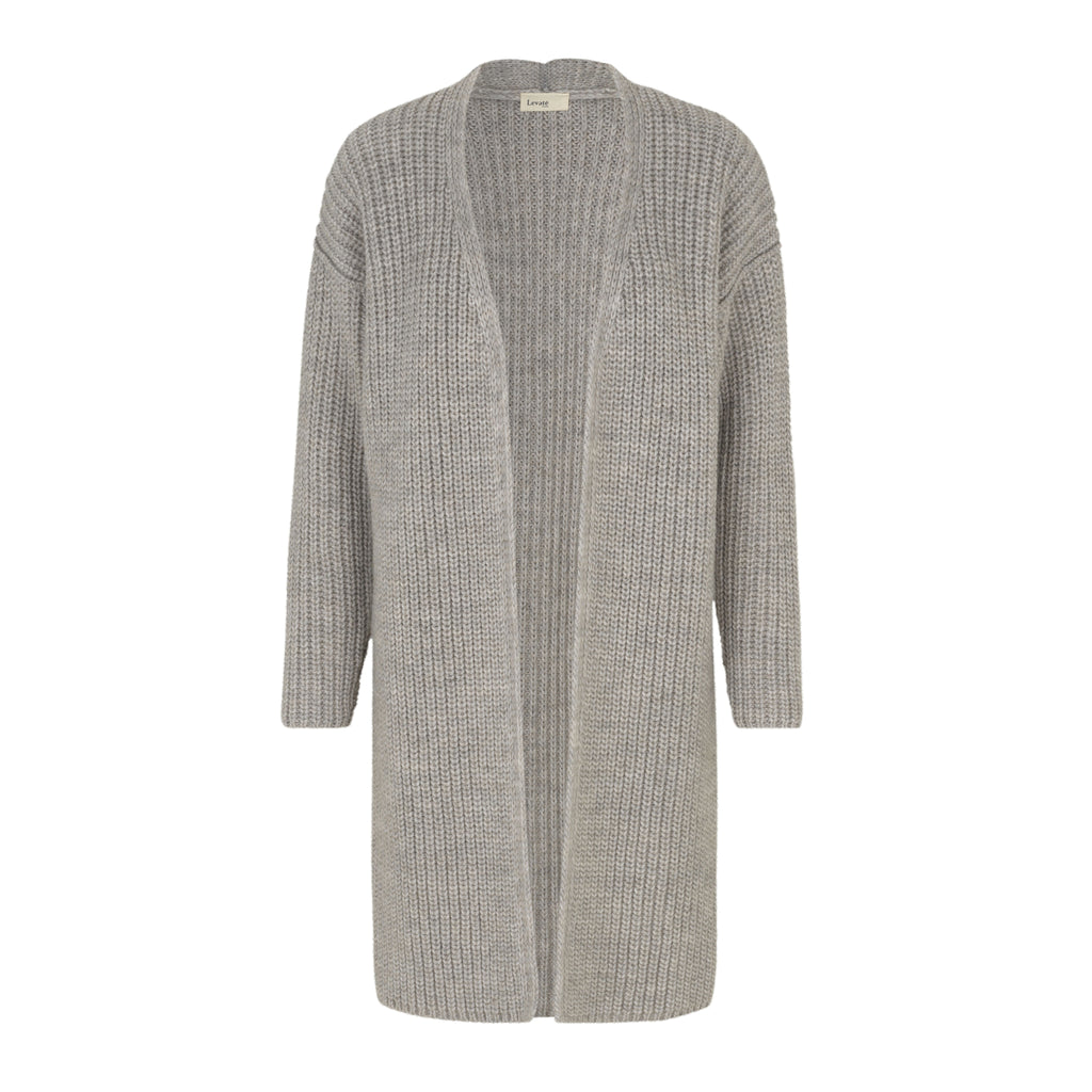 Levete Room Gymla Cardigan Grey Levete Room, - Stripes Fashion and Beauty