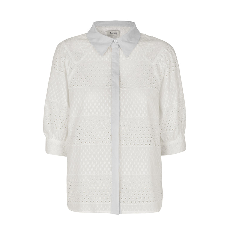 Isalouise Shirt White Levete Room, - Stripes Fashion and Beauty