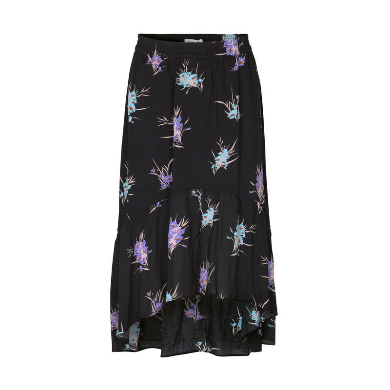 Levete Room Grita Skirt Black Floral Levete Room, - Stripes Fashion and Beauty