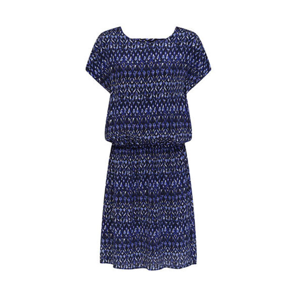 Hembury Dress Ikat Bluebell Mercy Delta, - Stripes Fashion and Beauty