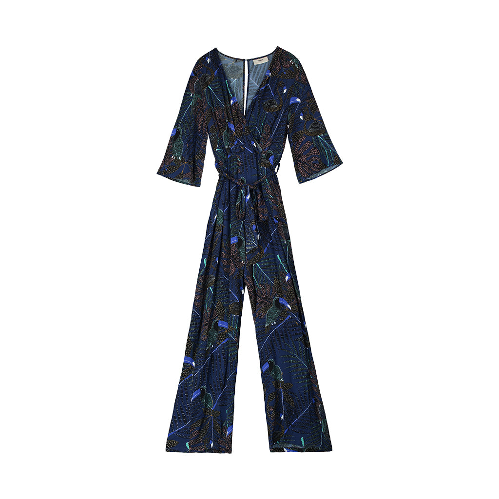 Viola Printed Jumpsuit Pyrus, - Stripes Fashion and Beauty