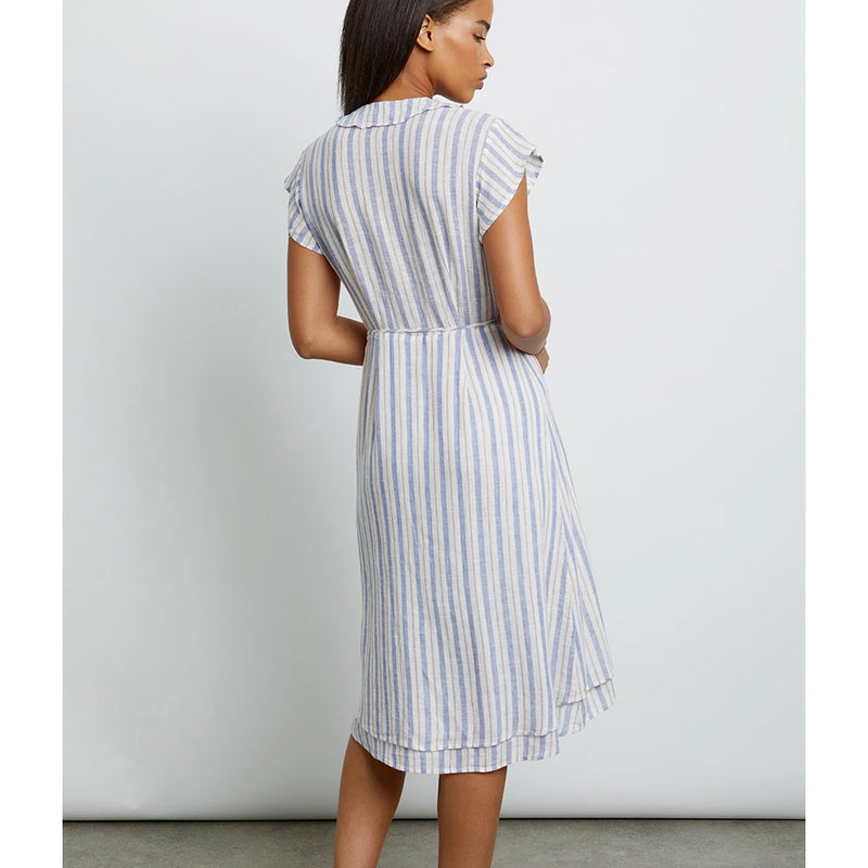 Louisa Dress Bacara Stripe