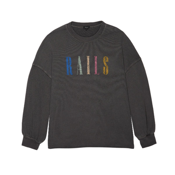 Rails Signature Sweatshirt Vintage Black