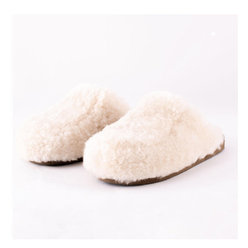 Jenny Sheepskin Mule Slippers Cream