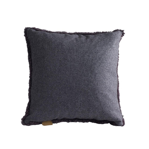 Lina Sheepskin Cushion Carbon
