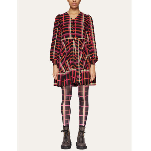 Farrow Dress Plaid Structure Stretch