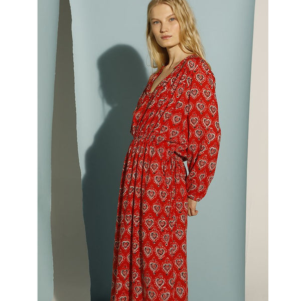 Vivaldy Red Robe Dress