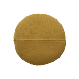 Yellow Cotton Round Cushion Bloomingville, - Stripes Fashion and Beauty