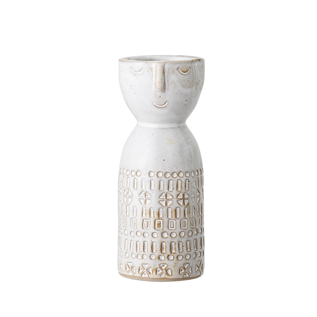 Face Vase Stoneware Bloomingville, - Stripes Fashion and Beauty