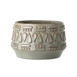 Flowerpot Green Stoneware Bloomingville, - Stripes Fashion and Beauty