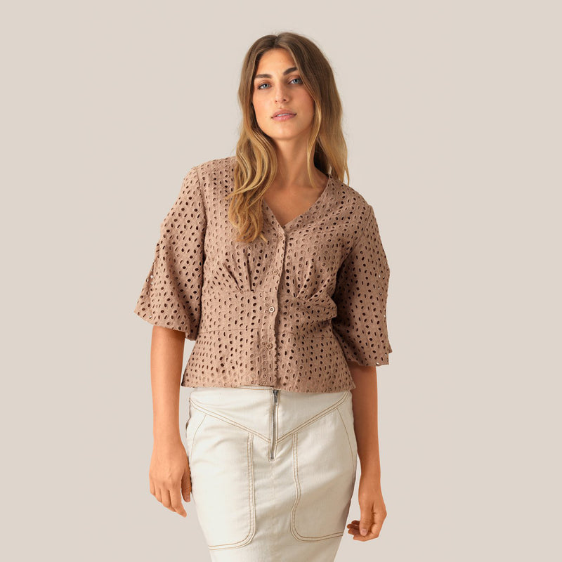 Milly Broderie blouse