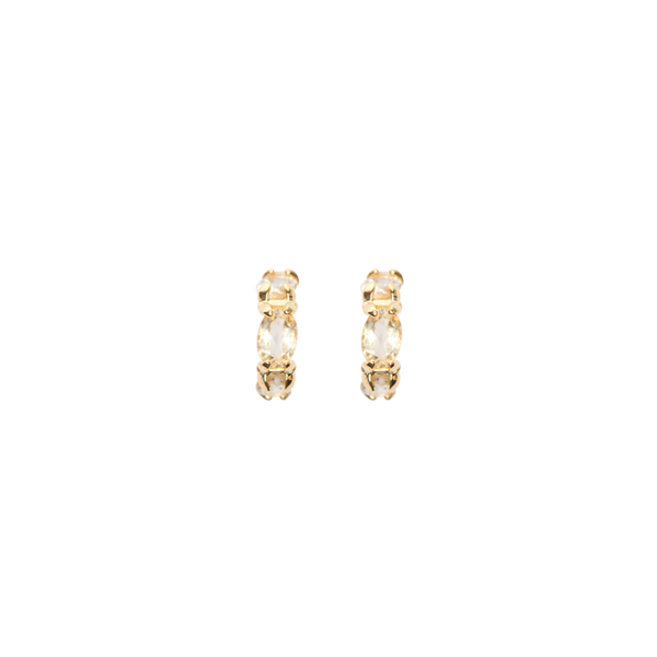 Accord Earrings Citrine Cabinet Jewellery, - Stripes Fashion and Beauty