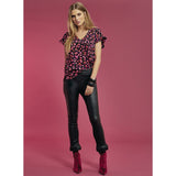 Leopard Top Red Dante6, - Stripes Fashion and Beauty