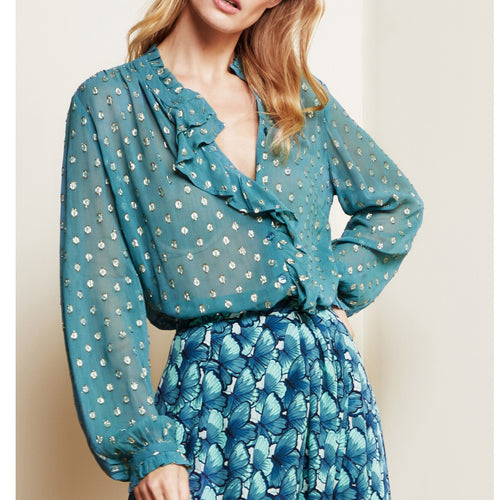 Garden Blouse Dusty Blue