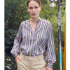Levete Room Dakota Graphic Blouse Levete Room, - Stripes Fashion and Beauty