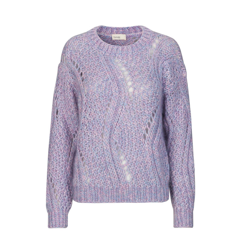 Levete Room Lilac Cable Knit Levete Room, - Stripes Fashion and Beauty