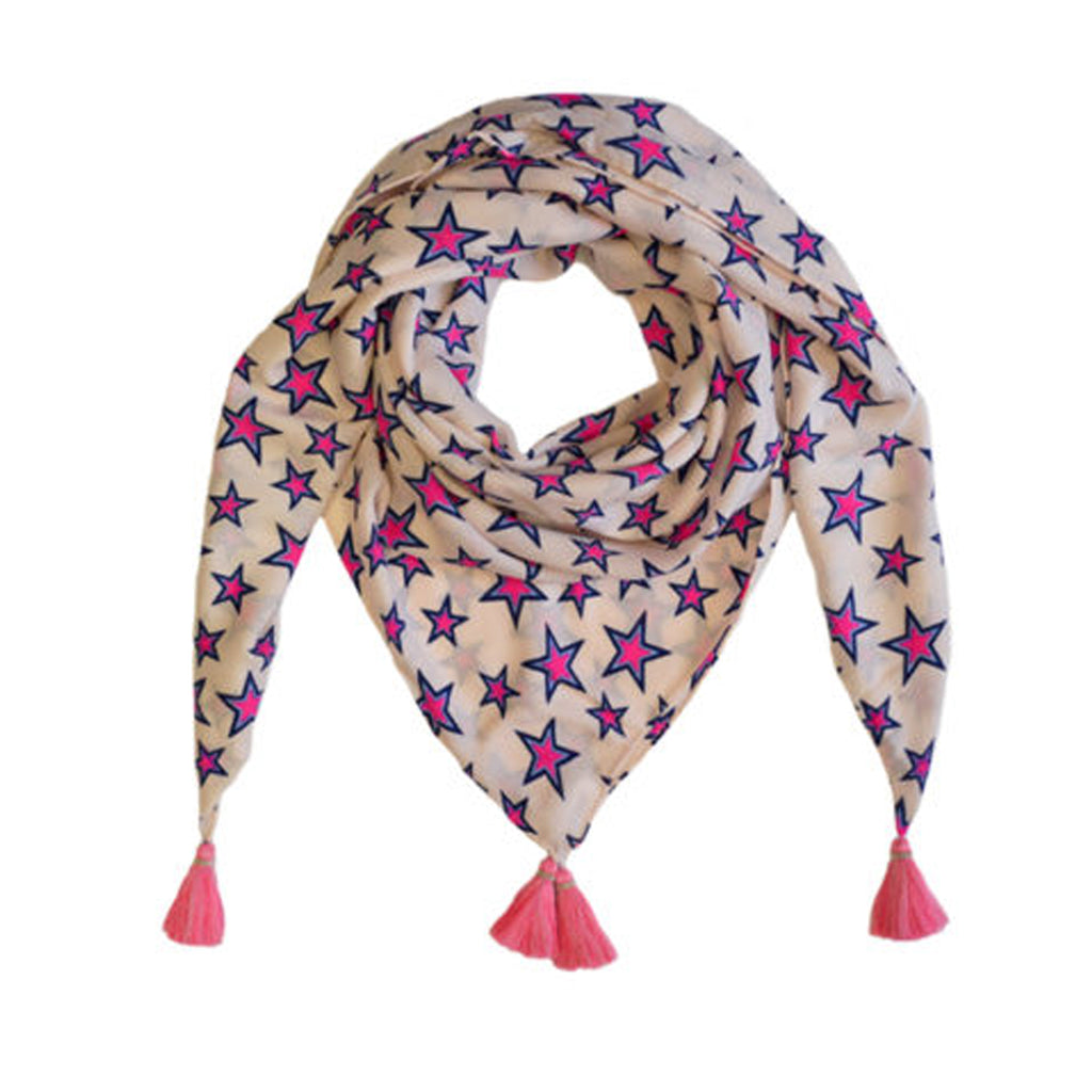Mercy Delta Cashmere Scarf Primrose Stars Mercy Delta, - Stripes Fashion and Beauty