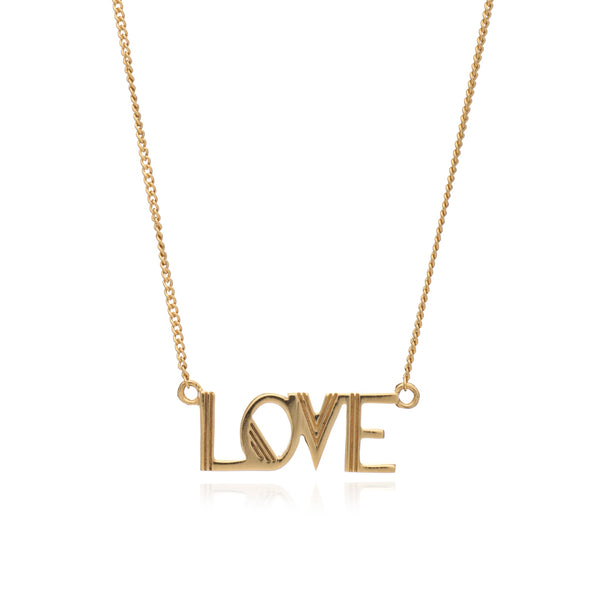 Rachel Jackson Love Necklace Gold