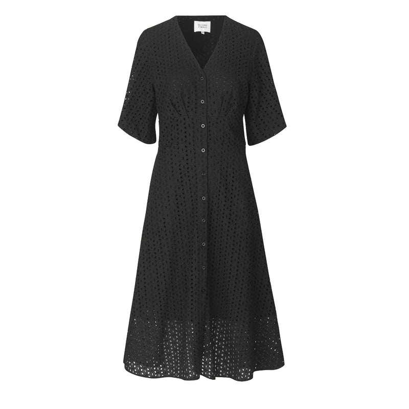Milly Broderie Dress Black