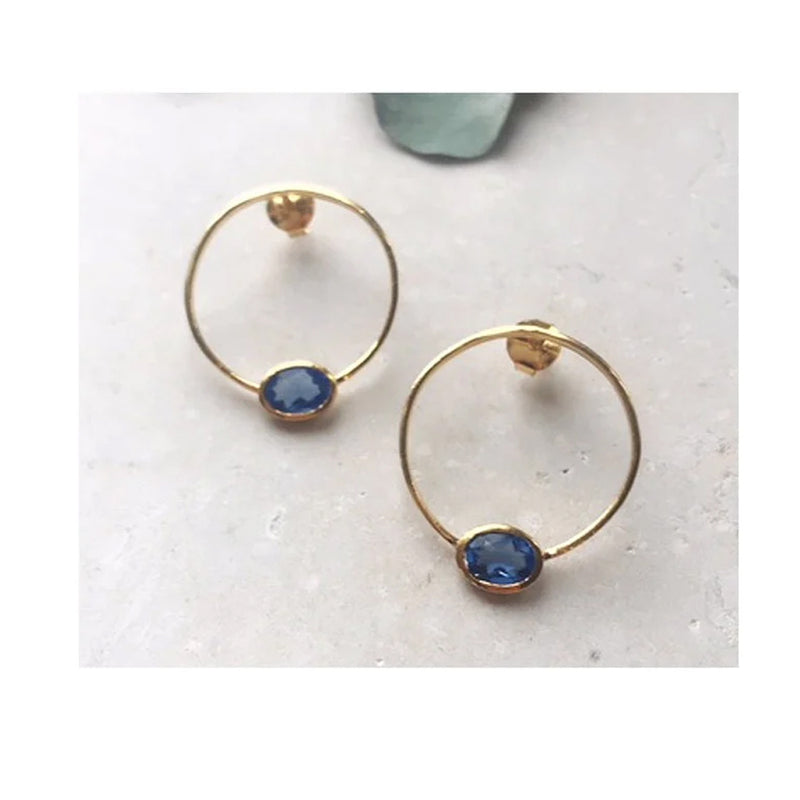 Ellie Earrings Blue Topaz