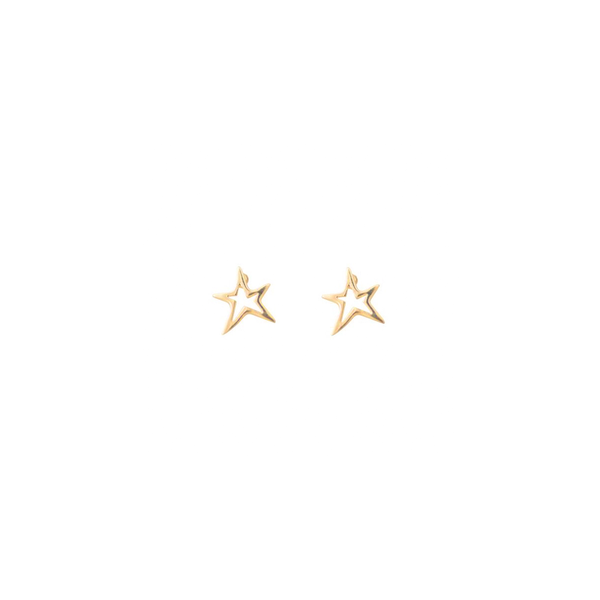 Open Star Studs Cabinet Jewellery, - Stripes Fashion and Beauty