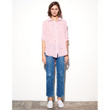 Sundry Stars Shirt Peony Sundry, - Stripes Fashion and Beauty