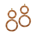 Cora Earrings Cedar A Weathered Penny, - Stripes Fashion and Beauty
