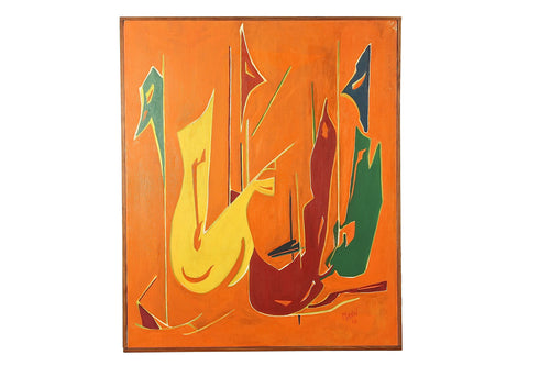 1968 Mann Abstract Painting