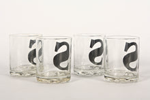 "Set of Four Vintage ""S"" Rocks Glasses With Bubble Feet"