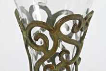 1920s Pierced Foliate Candleholder and Vase