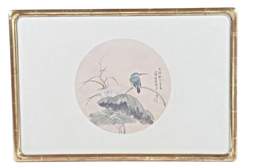 Chinese Bird-and-Flower Tempera Painting