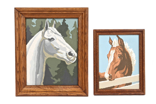 Paint-By-Numbers Equestrian Paintings