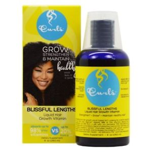 Curls Blue berry Blissfull Lengths Liquid Hair Growth Vitamins - 8oz
