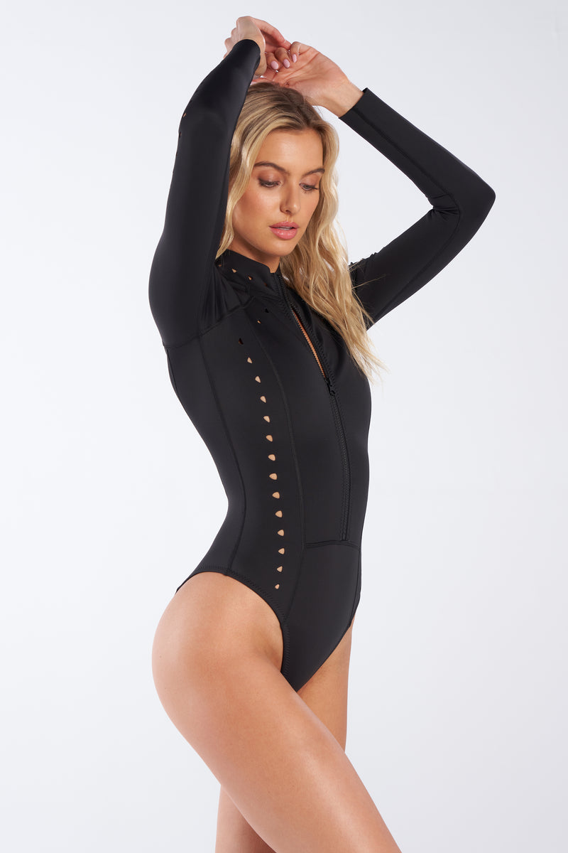 Black Neoprene Surfsuit, Riley Surfsuit, Gigi C Bikinis,