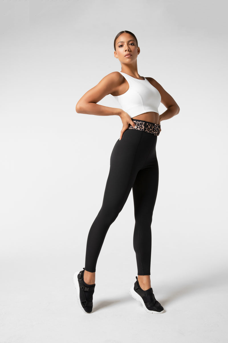 Winnie Legging with Leopard Print Belt