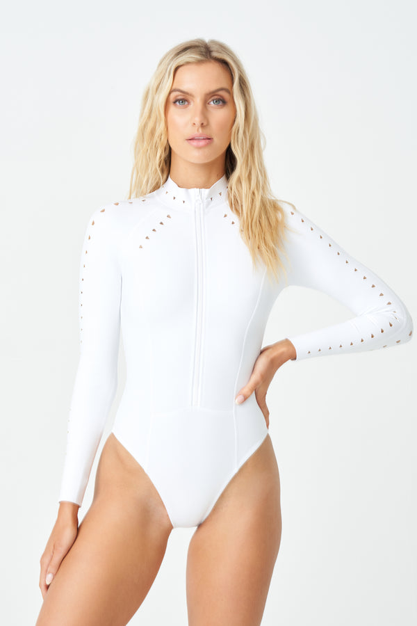 Riley Scuba Surfsuit Full Coverage in White