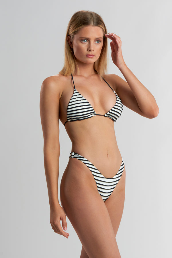 Delaney Tri Top 3-D Stripe