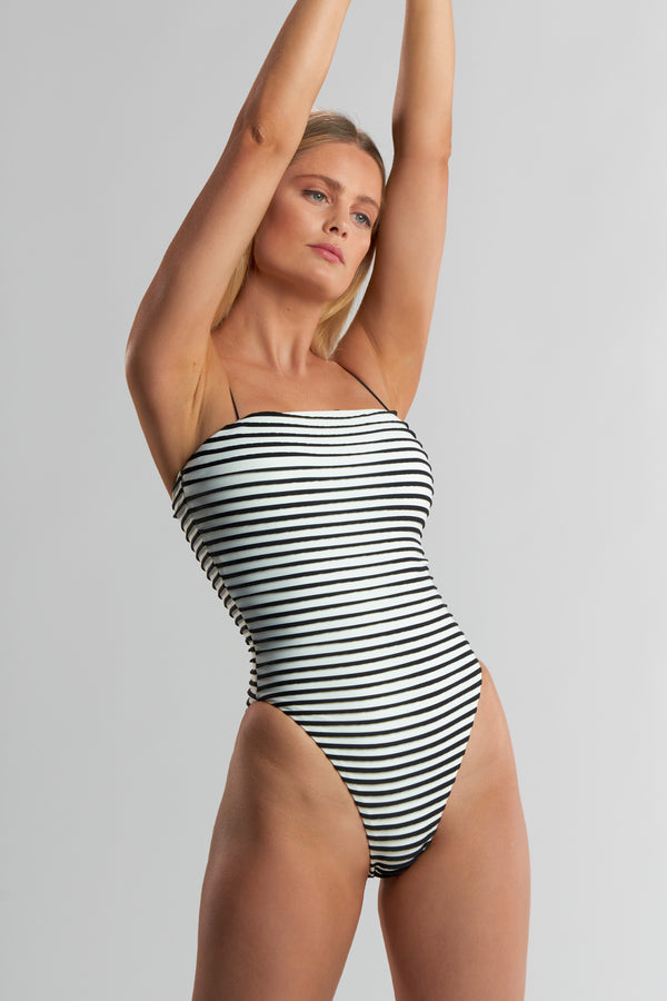 Elisa One Piece 3-D Stripe