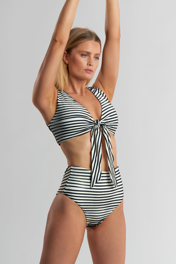 Jules Top 3-D Stripe