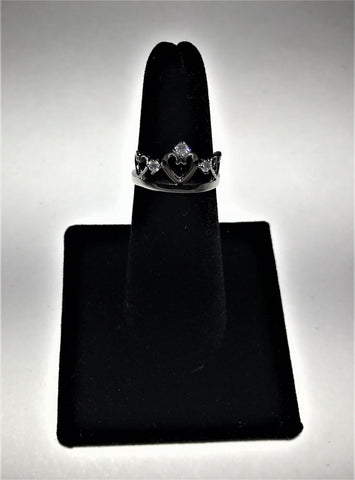 Princess Crown With CZ Ring