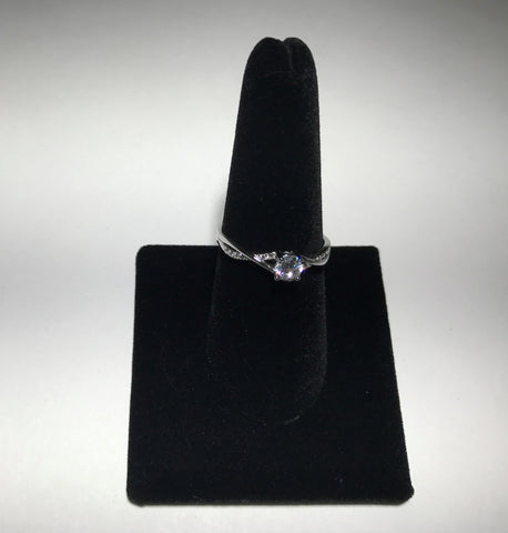 Twist Band With Cubic Zirconia