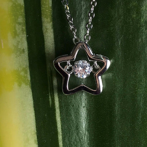 Floating stone Necklace Star