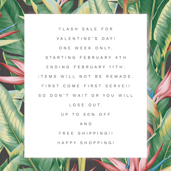Valentines day sale!! up to 50% off!