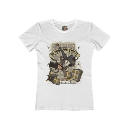 WOMEN'S T-SHIRT - KICKIN' IT WITH ABE