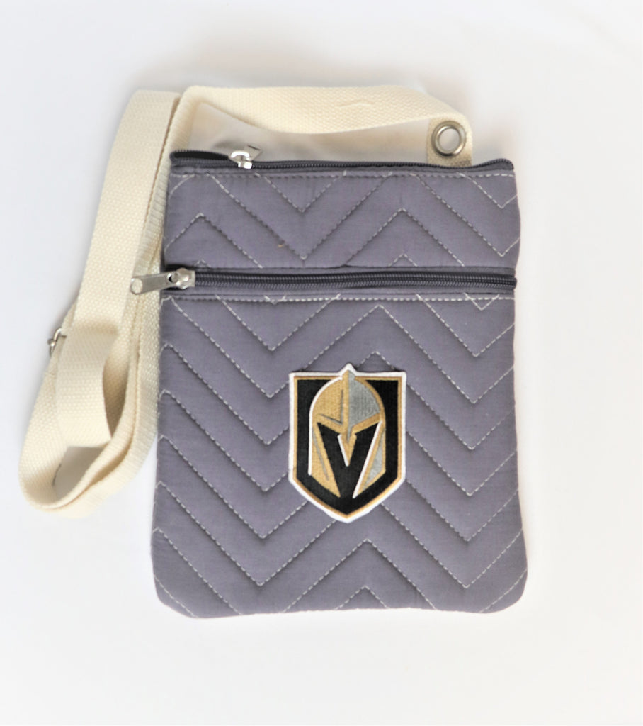 Golden Knights Chevron Stitch Cross Body