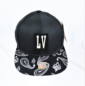 Black Patch LV Bandana Snapback