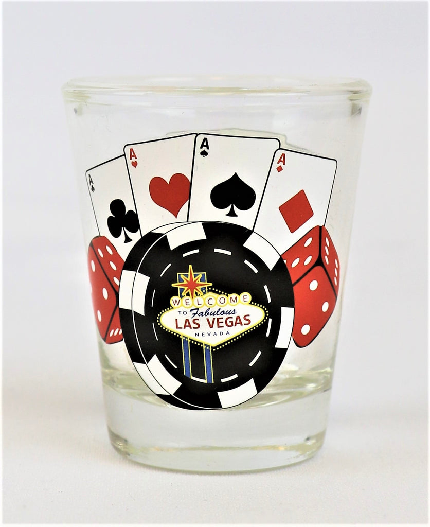 Las Vegas 4 Aces Shot Glass
