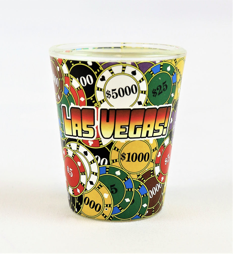 Las Vegas Chips Shot Glass