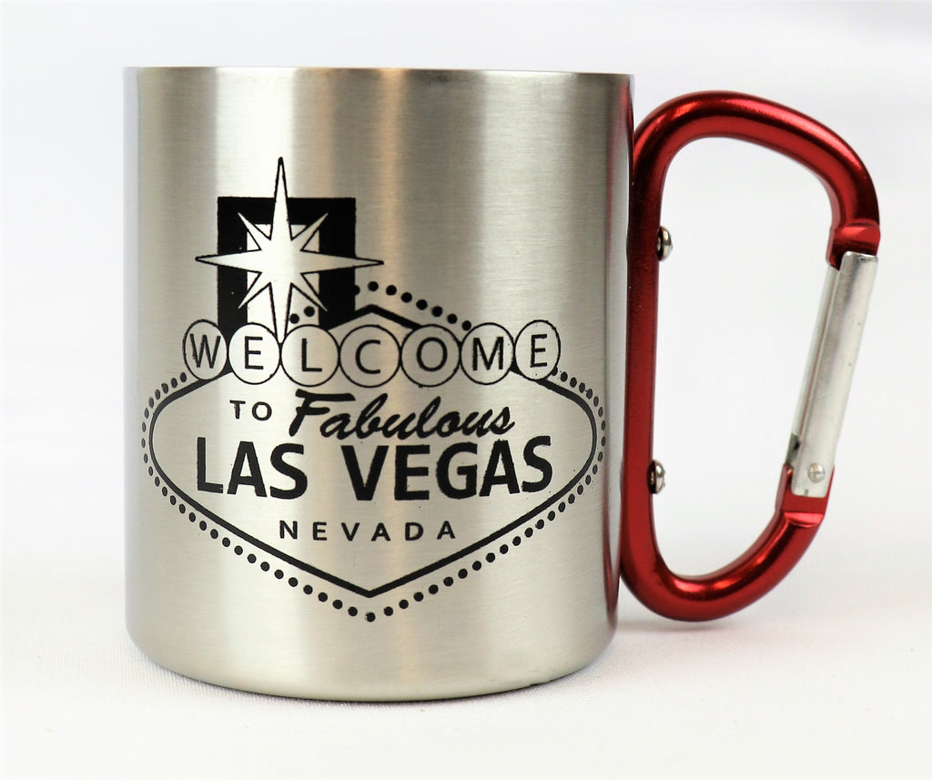 Las Vegas Welcome Sign Carabiner Handle Mug