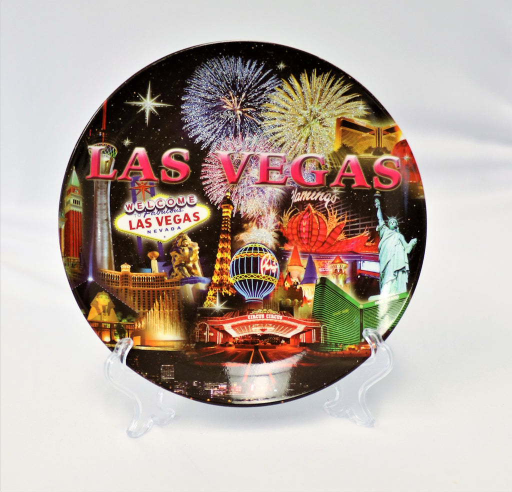Las Vegas Fireworks Collage Decorative Plate
